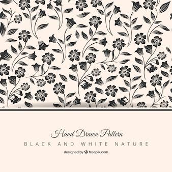 Patrón floral elegante dibujado a mano