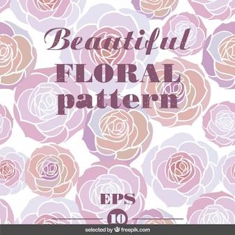 Patrón floral rosa precioso