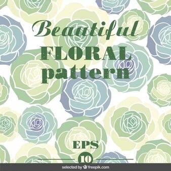 Patrón floral verde precioso