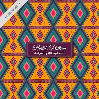 Patrón geométrico batik