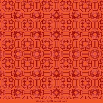 Patrón geométrico en estilo abstracto chino