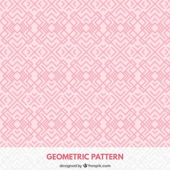 Patrón geométrico rosa
