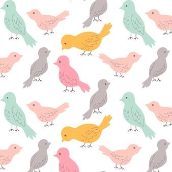 Patrón hermoso de pájaros