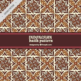 Patrón ornamental de formas batik