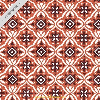 Patrón ornamental de formas geométricas batik