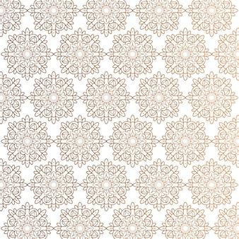 Patrón ornamental de mandala