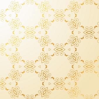 Patrón ornamental sobre un fondo dorado