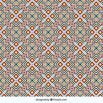 Patrón poligonal colorido