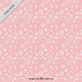 Patrón rosa de flores blancas