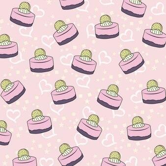 Patrón rosa de pastelitos