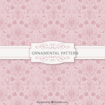 Patrón rosa ornamental