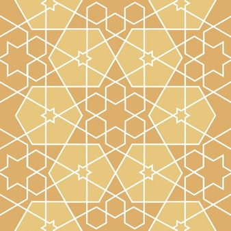 Patrón sin fin con estilo islámico