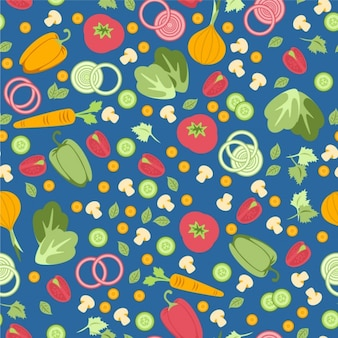 Patrón sin fisuras con verduras