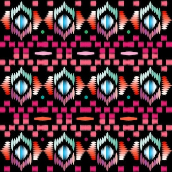 Patrón textil de formas abstractas