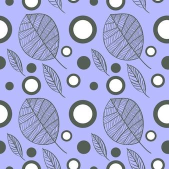 Patrón violeta de hojas