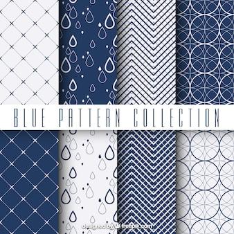 Patrones azules geométricos