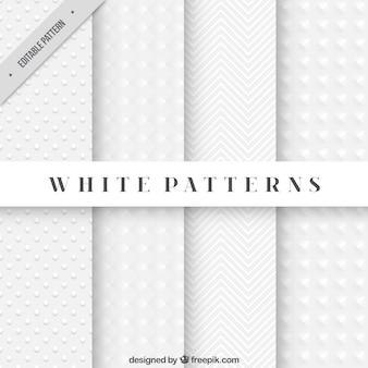Patrones blancos abstractos