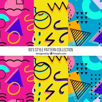 Patrones coloridos con formas geométricas
