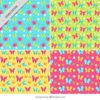 Patrones coloridos de mariposas
