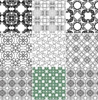Patrones de costura de época de fondo abstracto