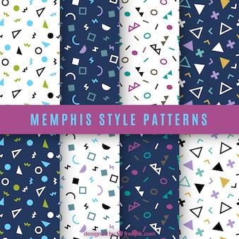 Patrones de formas geométricas de colores