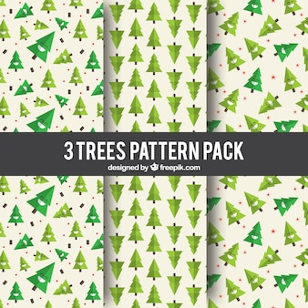 Patrones de pinos verdes