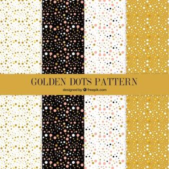 Patrones de puntos dorados