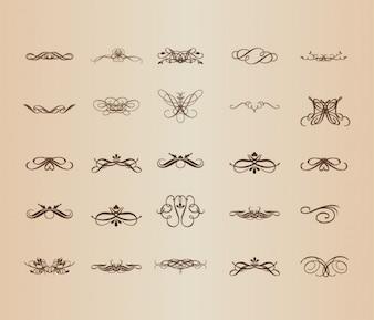 Patrones decorativos en el diseño vintage