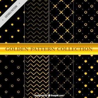 Patrones dorados geométricos