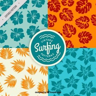 Patrones florales de surf