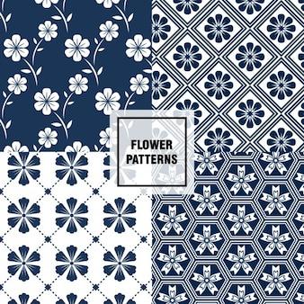 Patrones florales estilosos
