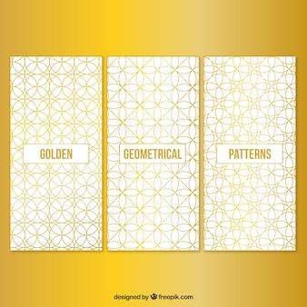 Patrones geométricos dorados
