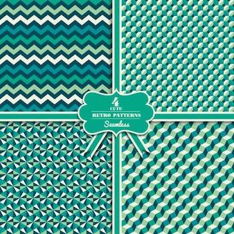 Patrones geométricos verdes