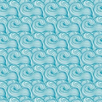 Patrones japoneses con olas
