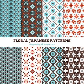 Patrones japoneses florales a todo color