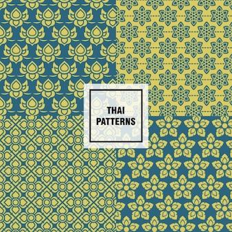Patrones thai de formas abstractas