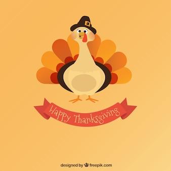 Pavo de feliz día de acción de gracias
