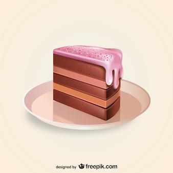 Pedazo de torta de la ilustración