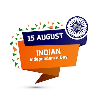 Pegatina elegante de la independencia de india