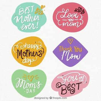 Pegatinas con frases del día de la madre