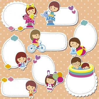 Pegatinas con niños
