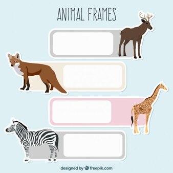 Pegatinas de animales salvajes