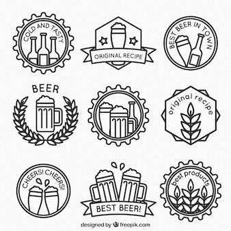Pegatinas de cerveza minimalistas