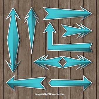 Pegatinas de flechas en diseño plano