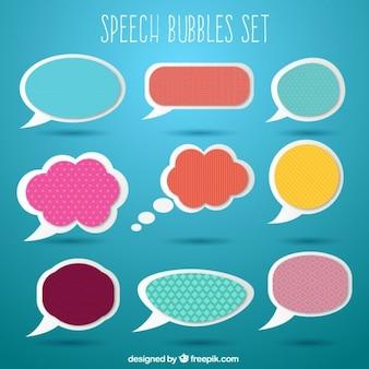 Pegatinas de globos de diálogo de colores