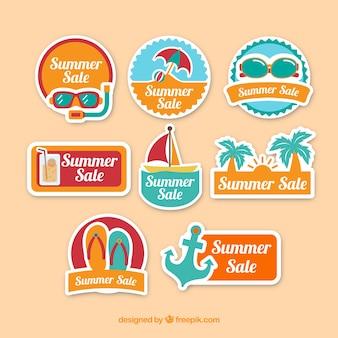 Pegatinas de ofertas de verano