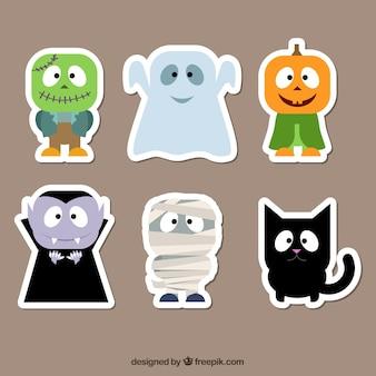Pegatinas de personajes de Halloween