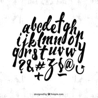 Pegatinas del alfabeto caligráfico