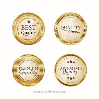 Pegatinas doradas para los mejores productos