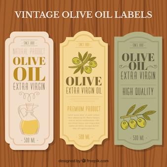 Pegatinas elegantes de aceite de oliva